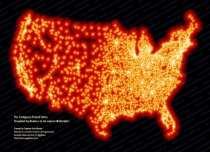 Thats A Lot Of Lights McDonalds In The US DinnerCakes - Us lights map